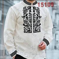 Заготовка для вишивки чоловічої сорочки 15109на льоні