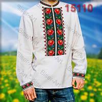 Заготовка для вишивки чоловічої сорочки 15110на льоні