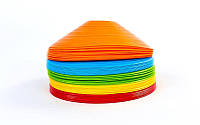 Фішки для розмітки поля 50шт UR С-5899 (пластик, d-20см, комплект 50шт, кольори в асортименті)