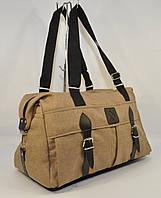Cпортивная, дорожная сумка 1320-1 светло-коричневая