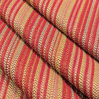 Ткань гобелен Полоса красный