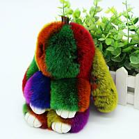 Брелок игрушка Кролик Зайчик разноцветный 15 см