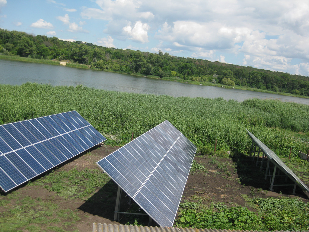 Кировоградская обл. с. Войновка, Сетевая солнечная станция под Зеленый тариф 30 кВт
