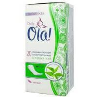 """Прокладки щоденні """"OLA"""" 20шт Зелений чай"""