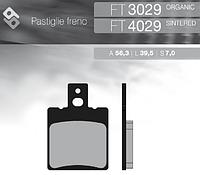 Итальянские синтетические тормозные колодки  BRENTA FT 4029