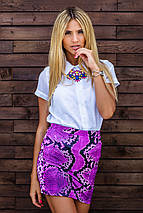 Фиолетовая юбка   Узор змеи sk, фото 2