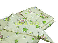 Постельный набор в детскую кроватку (3 предмета) Мишки в гамаке салатовый
