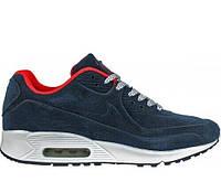 Мужские кроссовки Nike Air Max 90 VT Tweed And Fur Blue С МЕХОМ