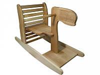 Качалка-лошадка, трансформируется в столик, деревянная, 05-002
