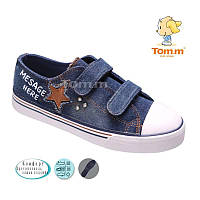 Кеды для мальчика Tom.m синий джинс Размеры: 32 - 37
