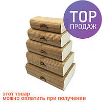 Шкатулка бамбуковая Natural 18х10,5 см / шкатулка для украшений