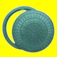 Люк канализационный полимерпесчаный зеленый до 1тонн