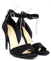 Классические женские босоножки на каблуке