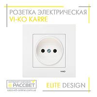 Розетка электрическая VI-KO Karre одинарная без заземления белая