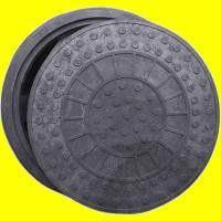 Люк канализационный легкий черный до 2 тонн