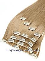 Волосы на клипсах трессы Viola 70 СМ, 8 прядей на заколках термо, цвет 19 светло-русый