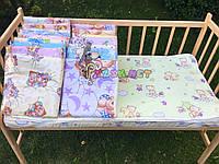 Наматрасник непромокаемый 120х60 см, резинка по углам (c рисунком)  , цвет на выбор, фото 1