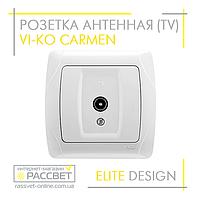 Розетка антенная VI-KO Carmen (телевизионная) скрытой установки (TV) белая