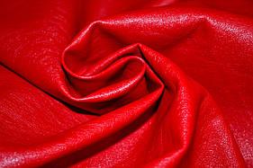 Шкіра штучна (кожвініл) на тканинній основі червона матова