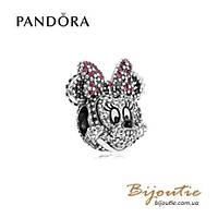 Шарм Pandora Disney СВЕРКАЮЩИЙ ПОРТРЕТ МИНИ #791796NCK серебро 925 Пандора оригинал