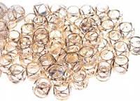 Бусины декоративные для бижутерии 12мм 5-27873 золото