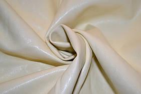 Шкіра штучна (кожвініл) на тканинній основі молочна