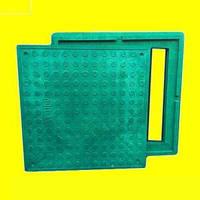 Люк канализационный квадратный зеленый до 1,5 т
