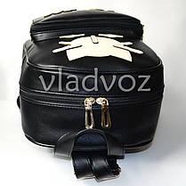 Молодежный модный женский рюкзак подросток девочка черный кот, фото 3