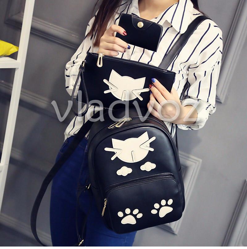 Фото молодежного подросток девочка модного рюкзака