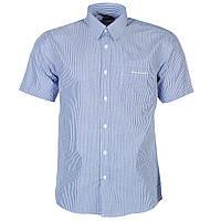 Рубашка мужская Pierre Cardin короткий рукав в сине-белую полоску