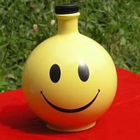 Смайл  - штоф для водки, 0,7 л, керамика