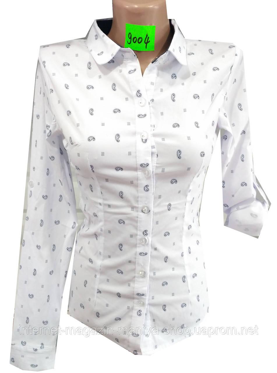 Блузка женская 9004 принт трансформер (деми)
