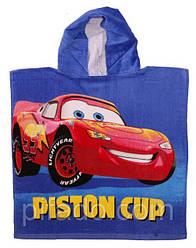 Полотенце-пончо с капюшоном Тачки