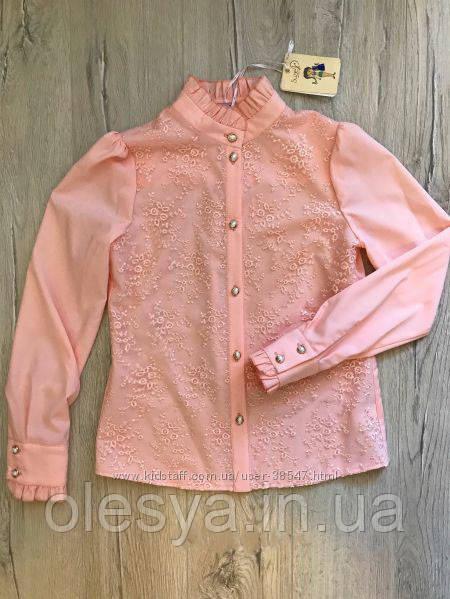 a1c7648d8e2a Блуза школьная нарядная на девочку Николет Размеры 116- 140 Цвет пудра -  Интернет- магазин