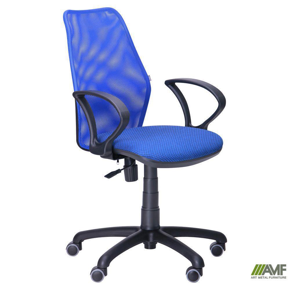Крісло Oxi/АМФ-4 сидіння А-49/спинка Сітка синя