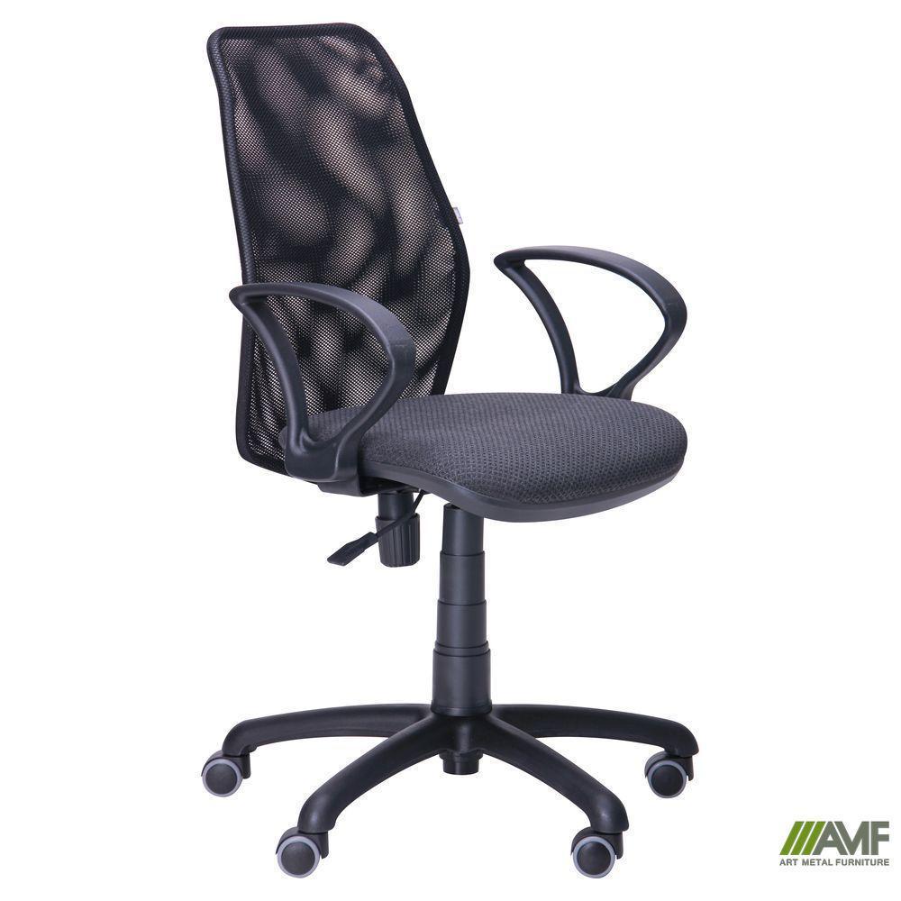 Крісло Oxi/АМФ-4 сидіння А-50/Сітка чорна спинка