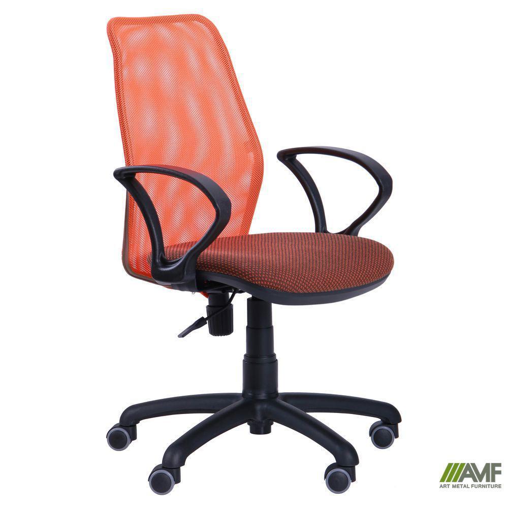 Крісло Oxi/АМФ-4 сидіння А-72/спинка помаранчева Сітка