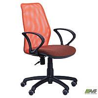 Крісло Oxi/АМФ-4 сидіння А-72/спинка помаранчева Сітка, фото 1