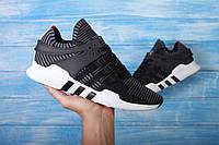 Мужские кроссовки Adidas Equipment Sock New (Адидас Еквипмент) серо-черные