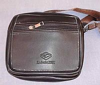 Классическая мужская сумка через плечо коричневого цвета Kasadaishu