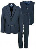 Школьный костюм тройка для мальчика синий