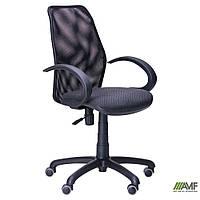 Крісло Oxi/АМФ-5 сидіння Сітка синя/Сітка чорна спинка, фото 1