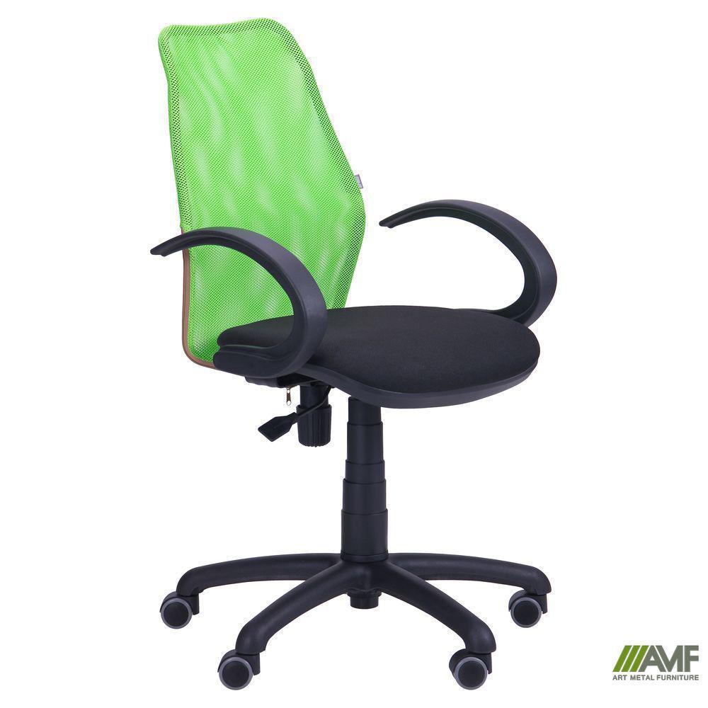 Крісло Oxi/АМФ-5 сидіння Фортуна-32/спинка помаранчева Сітка