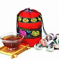 Мешочек хлопковый для хранения Чая этнический стиль.7,5х13,5см