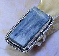 """Кольцо  с  кристаллом кианита """"Кристалл"""", размер 17.4 от студии  LadyStyle.Biz"""