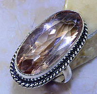 """Шикарное кольцо """"Персик"""" с кварцем-морганитом, размер 18.6 от студии LadyStyle.Biz, фото 1"""
