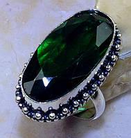 """Крупное кольцо """"Летнее"""" с кварцем-хромдиопсидом, размер 18.3 от студии LadyStyle.Biz, фото 1"""