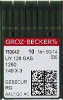 Голка Groz-Beckert UY128GAS SAN 6 GEBEDUR покращена распошивальная для джинса 10 шт/уп