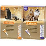 Капли Bayer Advocate АДВОКАТ для широкого спектра кошачьих