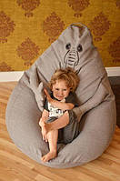 Кресло мешок бескаркасное Ждун из микро-рогожки 120х90 см